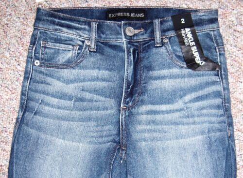 skinny entrejambe Jean 28 denim avec jeans taille super en bleu haute entre taille à qxz5qawRr