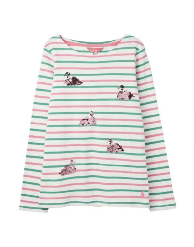 98-152 NUOVO Joules Tom Joule shirt verde//rosa a strisce con anatre MIS