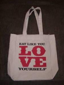 Shakeology Canvas Tote Bag Eat Like You Love Yourself Ebay