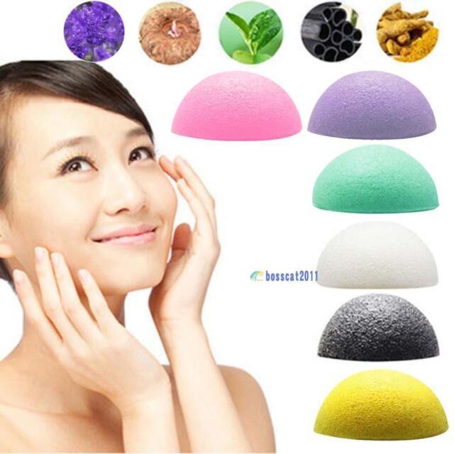 Natural Konjac Konnyaku Jelly Fiber Face Wash Cleanse Sponge Puff Exfoliator BS