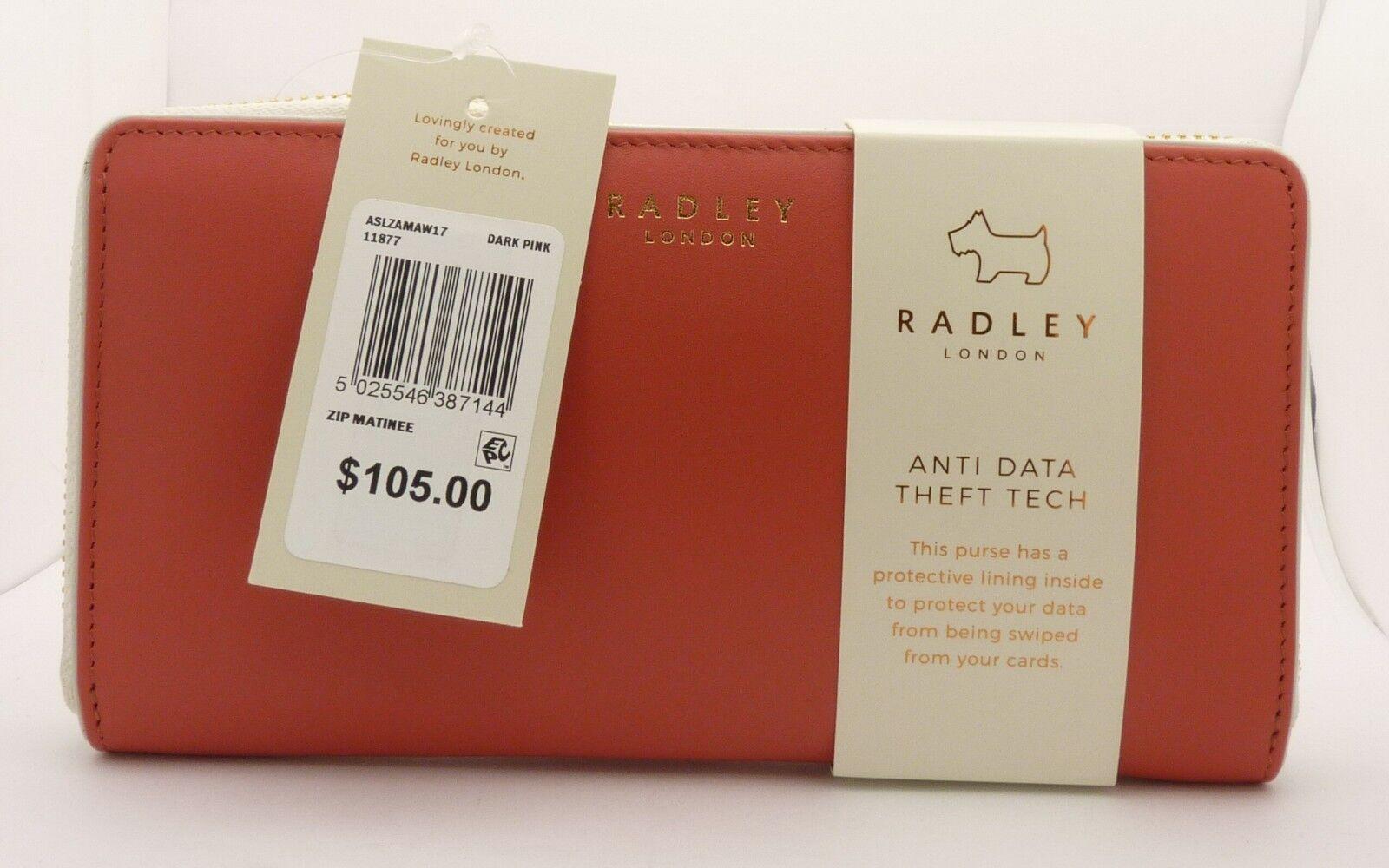 Radley Purse Bifold Wallet Red Leather Arlington Street Small RRP £69