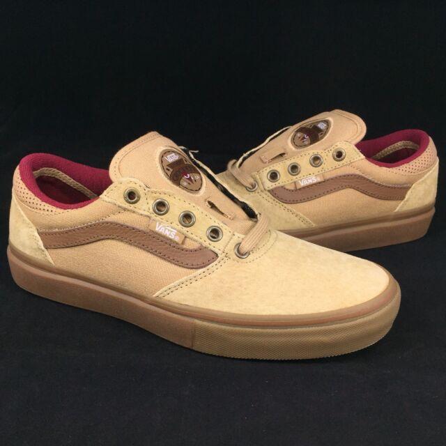 d8068b1d8e17 New Vans Gilbert Crockett Pro Sz 7 Men Tan Dachshund Gum Skate Shoe Canvas  Suede
