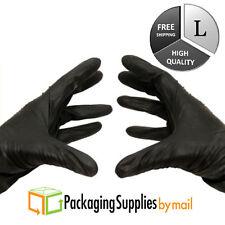 100 Pcs Black Nitrile Glove 4 Mil Medical Exam Powder-Free Gloves Large by PSBM
