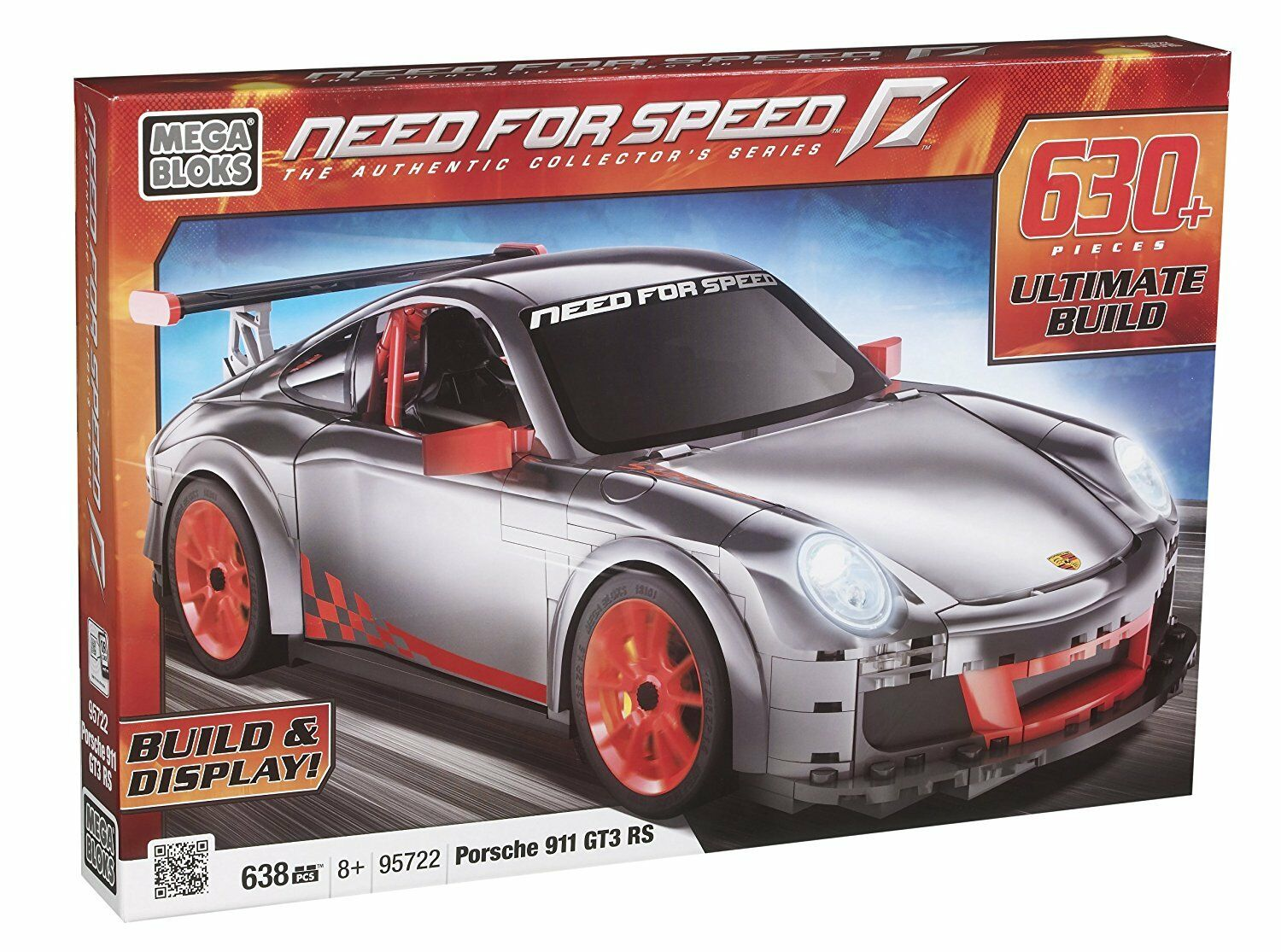 Mega - bloks 95722 need for speed porsche 911 gt3 rs neu versiegelt