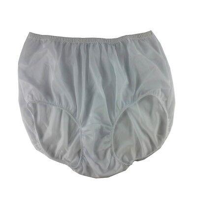 Vintage Style Granny Briefs Panties Men Women Sheer Nylon Knickers GRAY GREY NWT