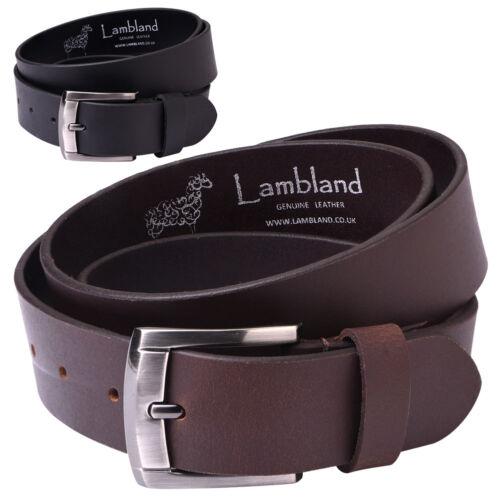 """Black Brown Mens Premium Luxury Genuine Leather 40mm 1.5/"""" Belt Hide"""