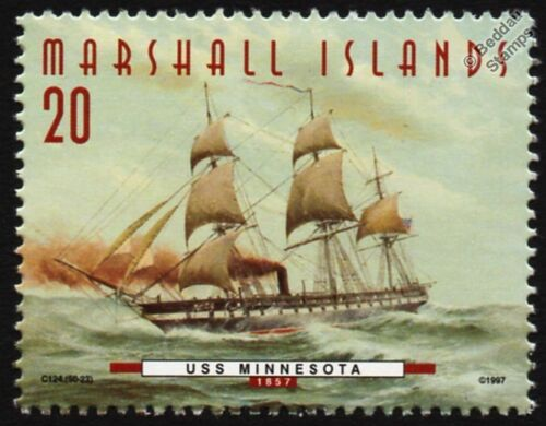 USS MINNESOTA (1857) Steam Frigate US Navy Warship Stamp (1997)