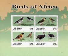 Liberia 2007 MNH Birds of Africa I 4v M/S Weaver Oriole Guineafowl Stamps