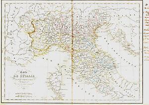 Carte De L'italie Du Nord - 1836. 34 X 49 Cm., Delamarche D0vp8fjv-08011810-806129978