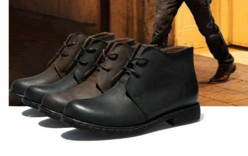 British Fashion Men/'s vintage ankle boot chukka Lace Up leather shoes sneaker sz