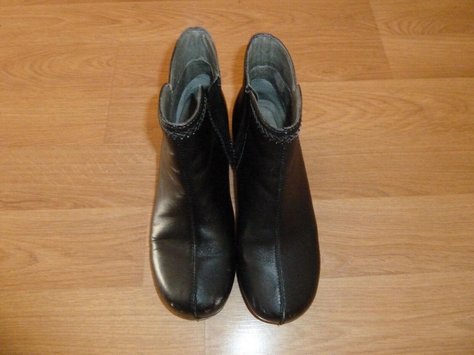Dansko Scout Split Toe Cheville bottes pour Femme Taille 11.5 M (EU 42) Cuir noir Fermeture Éclair