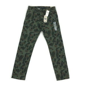 Dockers-Mens-Pants-Tapered-Fit-Alpha-Slim-Camo-Green-Variety-Sizes