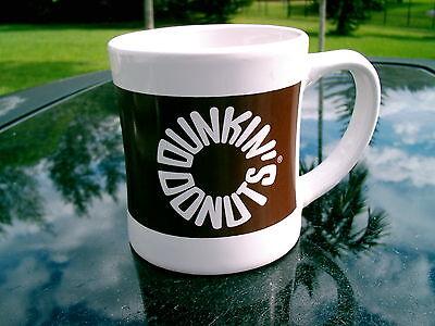 DUNKIN' DONUTS COFFEE MUG RARE 2010 BROWN LOGO | eBay