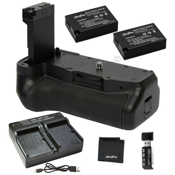 Amical Vivitar Grip Batterie Pour Canon T7i, 77d + 2x Batterie Lp-e17 + Dual Usb Chargeur DernièRe Technologie