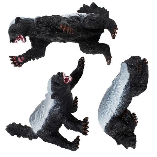Classic Wild Honey Badger Animal Ratel Badger Action Figures Model Figurines