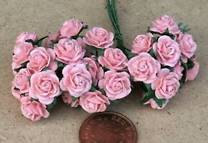 Of Orange Paper Roses Tumdee Dolls House C 30 Flowers 1:12 Scale 3 Bunches