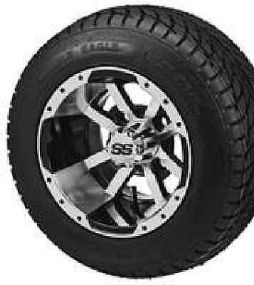 "(4) 10"" ITP HD LSI Aluminum Golf Cart Car Rim Wheel & 205-50-10 Tires Mounted"