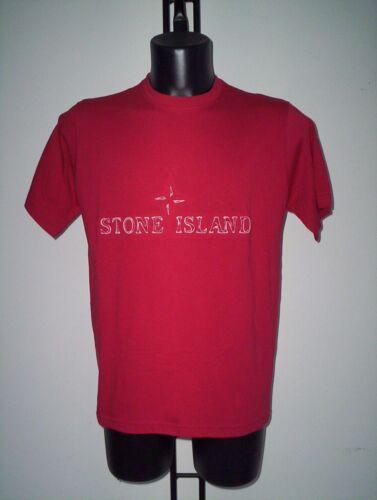 T SHIRT  STONE  ISLAND  IN  COTONE  ROSSA  TG  M
