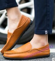 Summer Mens Shoes Moccasins Driving Gommino Slip On Pu Leather Casual New Size 8