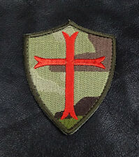 CROSS CRUSADER  SHIELD  3.0 INCH TACTICAL COMBAT INFIDEL MORALE HOOK LOOP PATCH