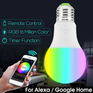 Wifi-Smart-LED-Light-Bulb-RGB-Dimmable-App-Control-for-Amazon-Alexa-Google-Home