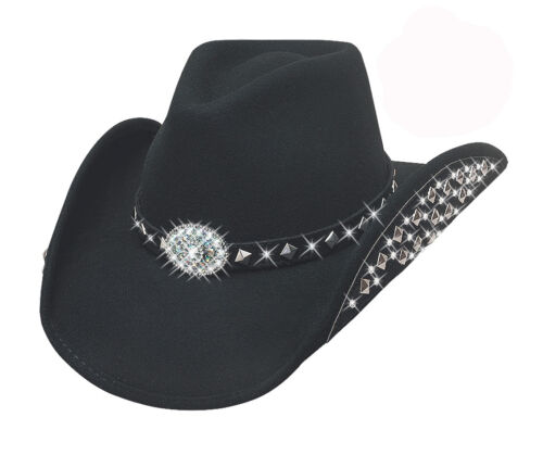 Bullhide Ladies Western Cowboy Hat Lets Get Loud Genuine 100/% Wool Felt Stetson