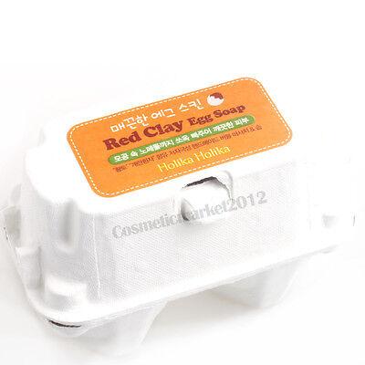 Holika Holika Egg Soap Set #Red Clay (50g x 2pcs) Free gifts