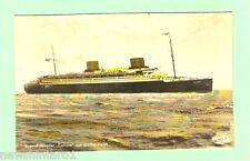 #C.  SHIPPING  POSTCARD - PASSENGER LINER EUROPA, TRIMMED