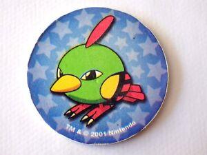 Pog Collection Pokemon Nintendo 2001 N° 177 Natu