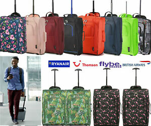 Lightweight-55x35x20-Hand-Luggage-Trolley-Bag-Cabin-Flight-Suitcase-Ryanair-Jet2