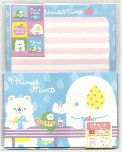 Stationery Set Animal Mint From Japan