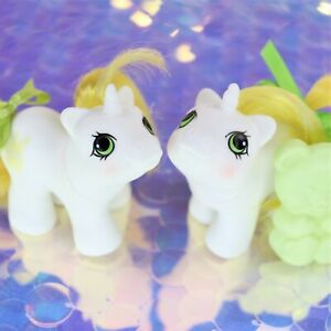 Vintage-My-Little-Pony-Newborn-Baby-Twins-RATTLES-amp-TATTLES-Unicorn-G1-MLP-BH894