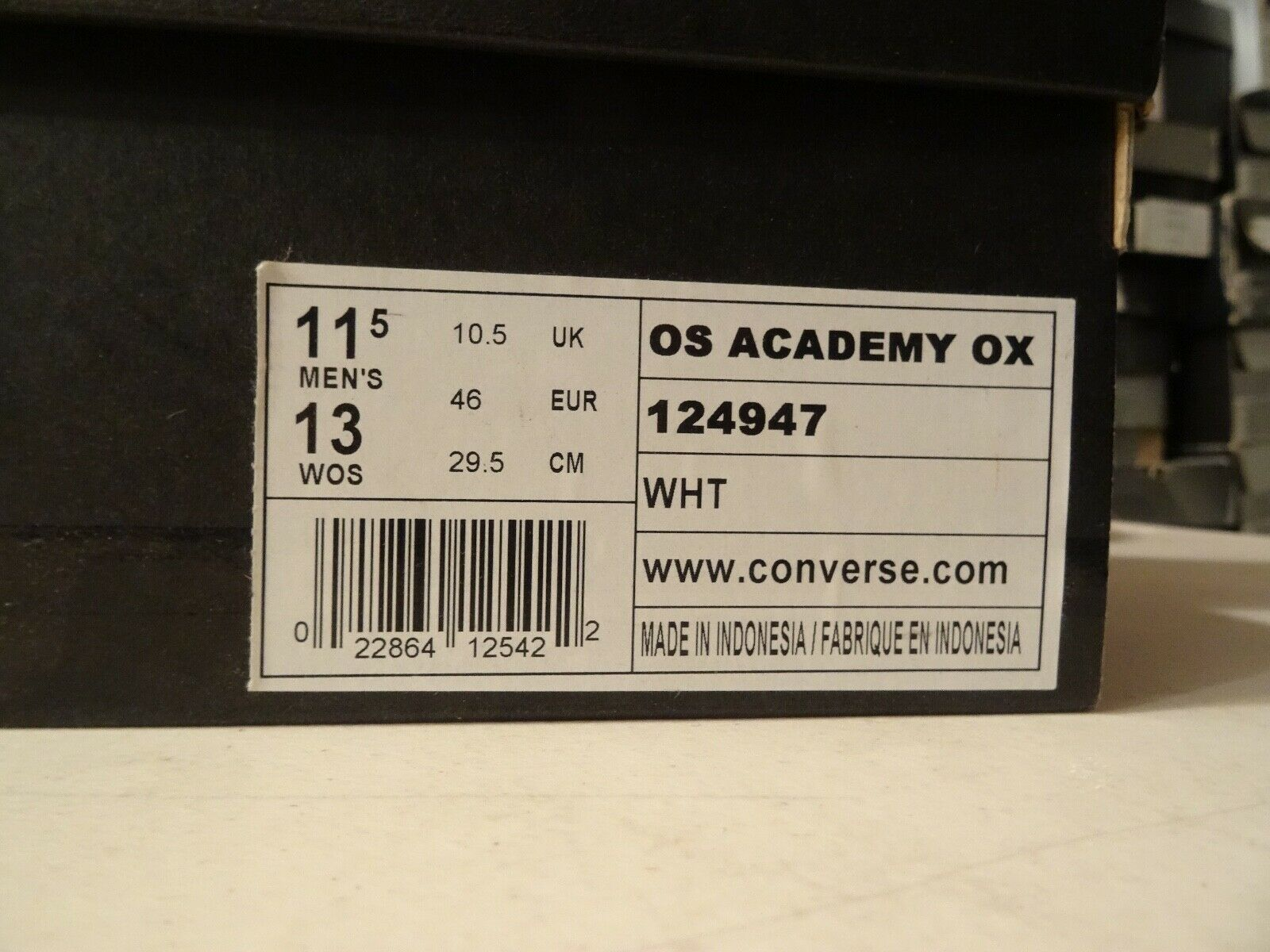 NEW NEW NEW RARE Converse X Undefeated OS ACADEMY OX UNDFTD bianca 124947 SZ 11.5 SUPREME cace48