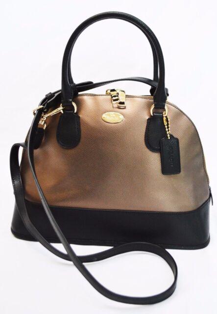 $395 NWT Coach F36057 Crossgrain Leather Cora Domed Satchel Cross Body Handbag