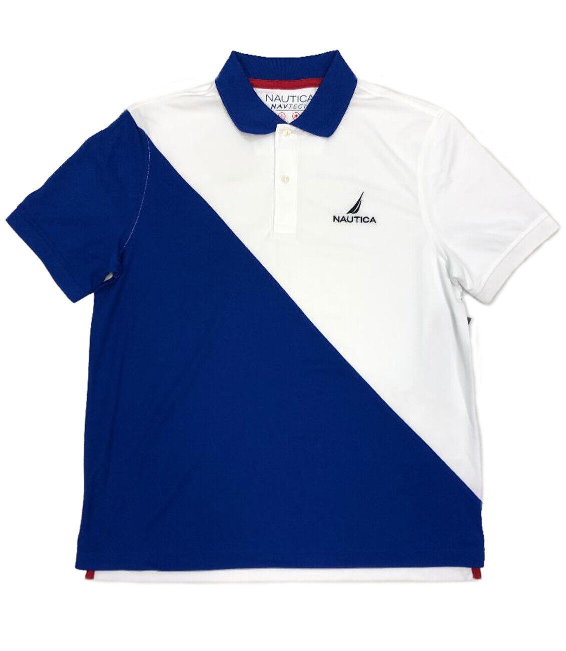 9b2b58f00fd7 Nautica bluee Polo T-Shirt Diagonal NAV-Tech oytxhd982-T-Shirts ...