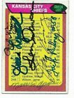Kansas City Chiefs signed 1976 Topps team card 6 autos Len Dawson Paul Wiggin
