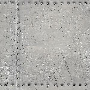 Rasch-papier-peint-Match-Course-021252-Texti-tole-rivete-Rivets-Argent-polaire