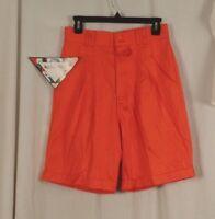 Bugle Boy Size 11 Shorts Orange Cuffed Women's Junior's
