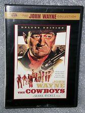 RARE VG The Cowboys WS DUKE WAYNE WESTERN + 8 B/W BEHIND SCENES PIC NO GSP