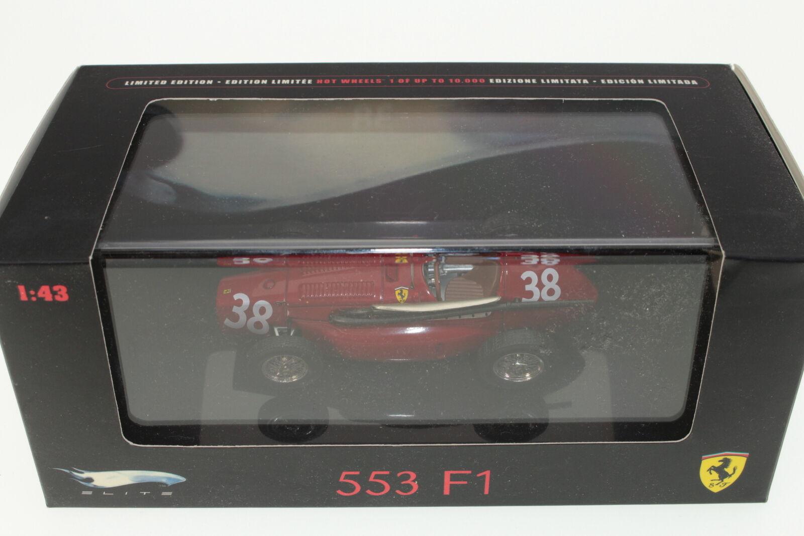 Mattel  N5586 - Ferrari 553 F1 - Hot Wheels - Red - A+ A