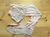 Vintage 50s Champagne Silky Stockings Seams Cuban Heel Retired Stock Si