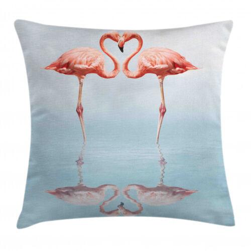Flamingo Kissenhülle Vögel Hälse Form wie Herz Kissenbezug