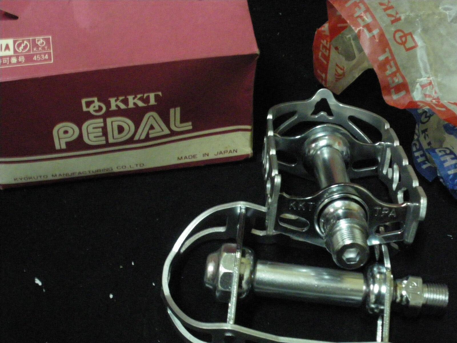 KYOKUTO KKT  TOP - RUN Bicycle Racing Pedals 9 16  Axle Vintage NOS  healthy