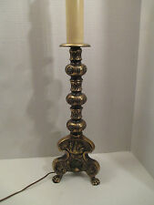 """Vintage Ornate Brass Table Lamp Westwood Industries Mid Century Footed Tall 37"""""""