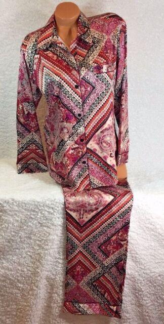 Victoria's Secret Silky Satin Afterhours Pajama Set Size Medium {Regular)
