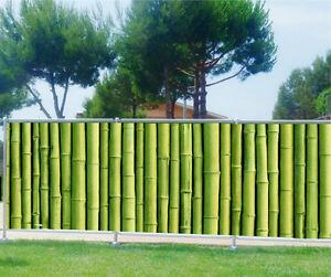 brise vue imprim jardin terrasse balcon d co bambous 9131 ebay. Black Bedroom Furniture Sets. Home Design Ideas