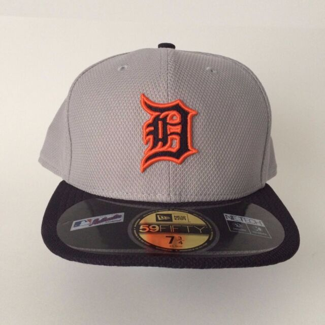 huge discount c1952 33f02 New Era 5950 DETROIT TIGERS RD MLB Diamond Era Cap Batting Practice Fitted  Gray