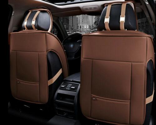 1+1 eleganter Autositzbezug Braun 1191 Sitzbezüge Kunstleder Schonbezüge Komfort