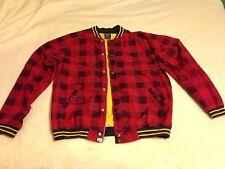 DC Shoe Men's Jacket - Red/navy Plaid Size Large NBG