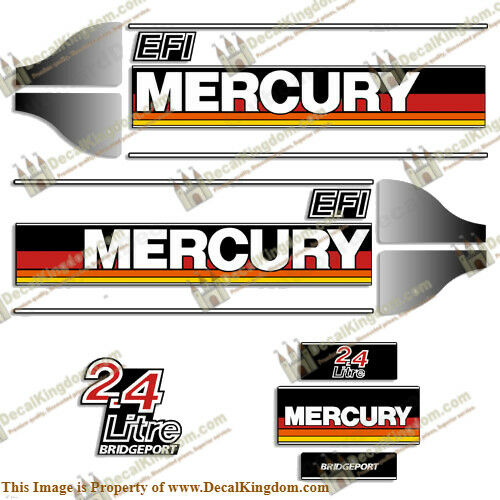 Mercury 1986  1995 2.4 Litre Outboard Decal Kit Multiple Styles
